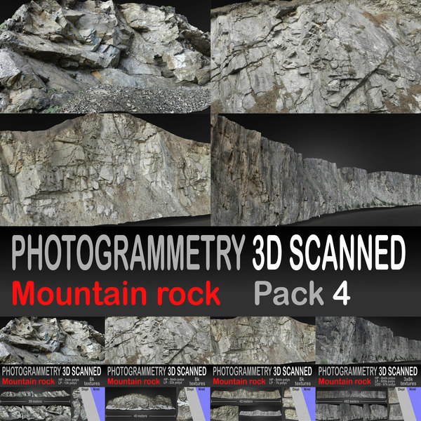 3D mountaine rock pack 4