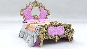 italian classic bed 3D model