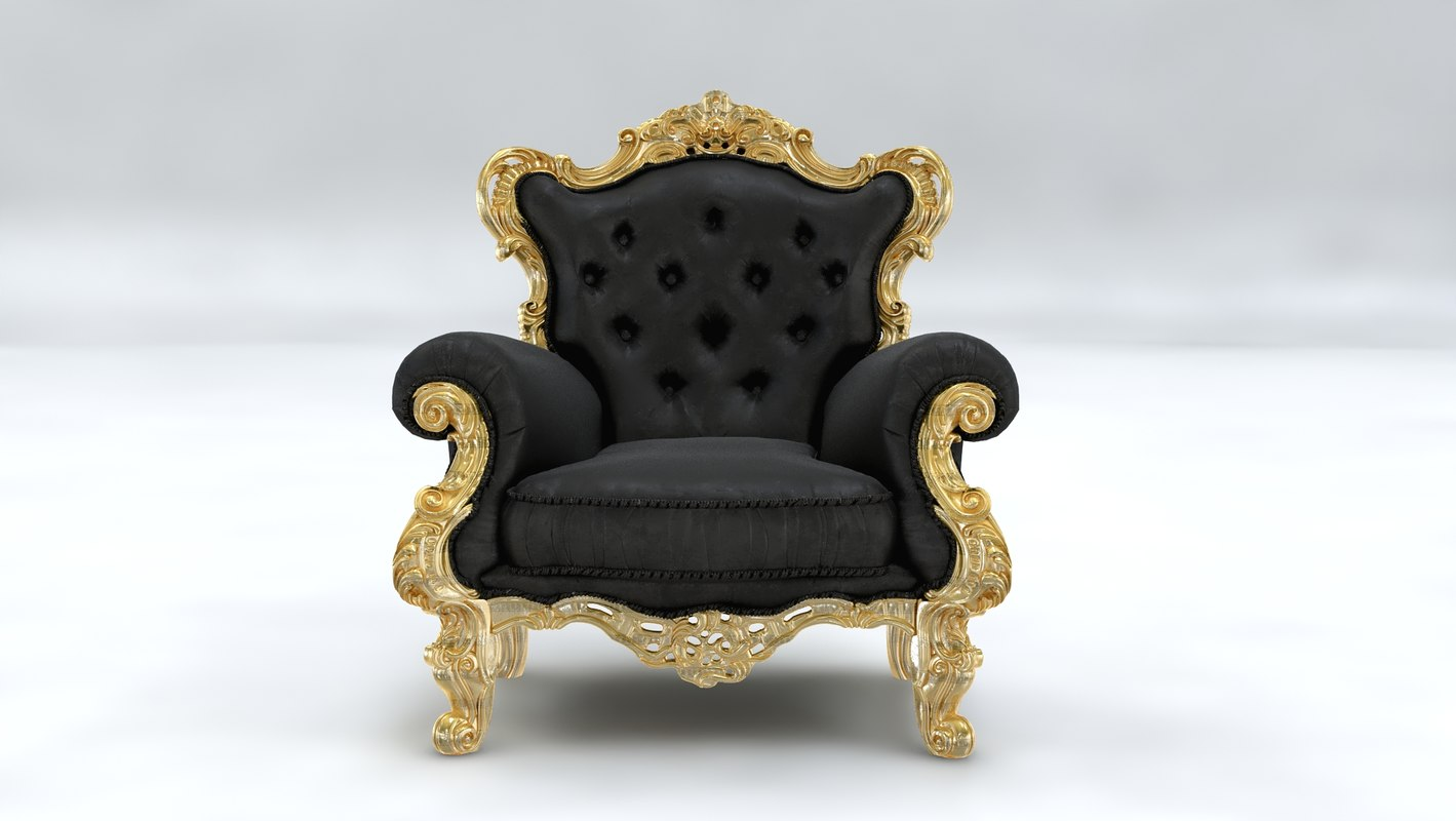 3D chair italian classic