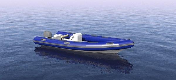 rigid inflatable boat 3D