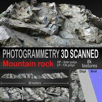 Mountain rock scanned 3D model