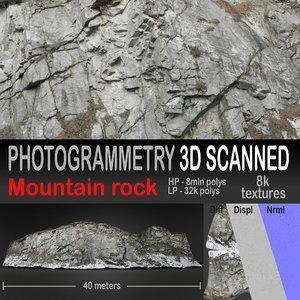 3D rock scanned