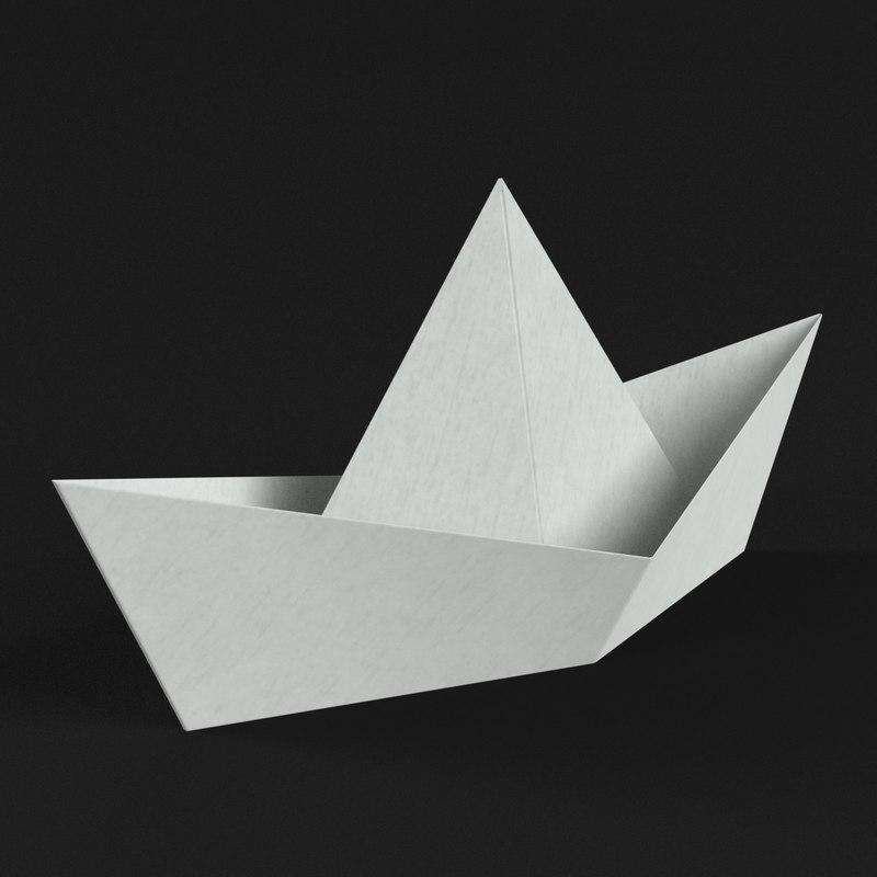3D paper boat model
