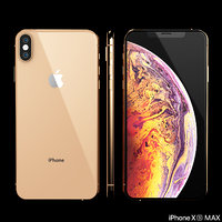 3D model iphone xs phone