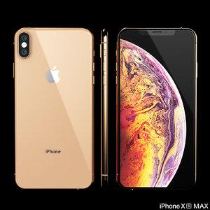 3D model iphone xs phone