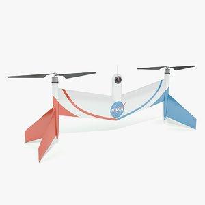 3D nasa mars drone model