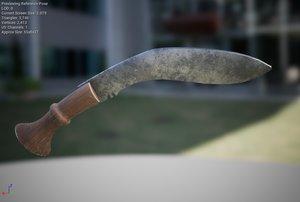 3D model gurkha knife