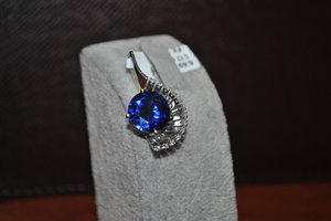3D model blue pendant