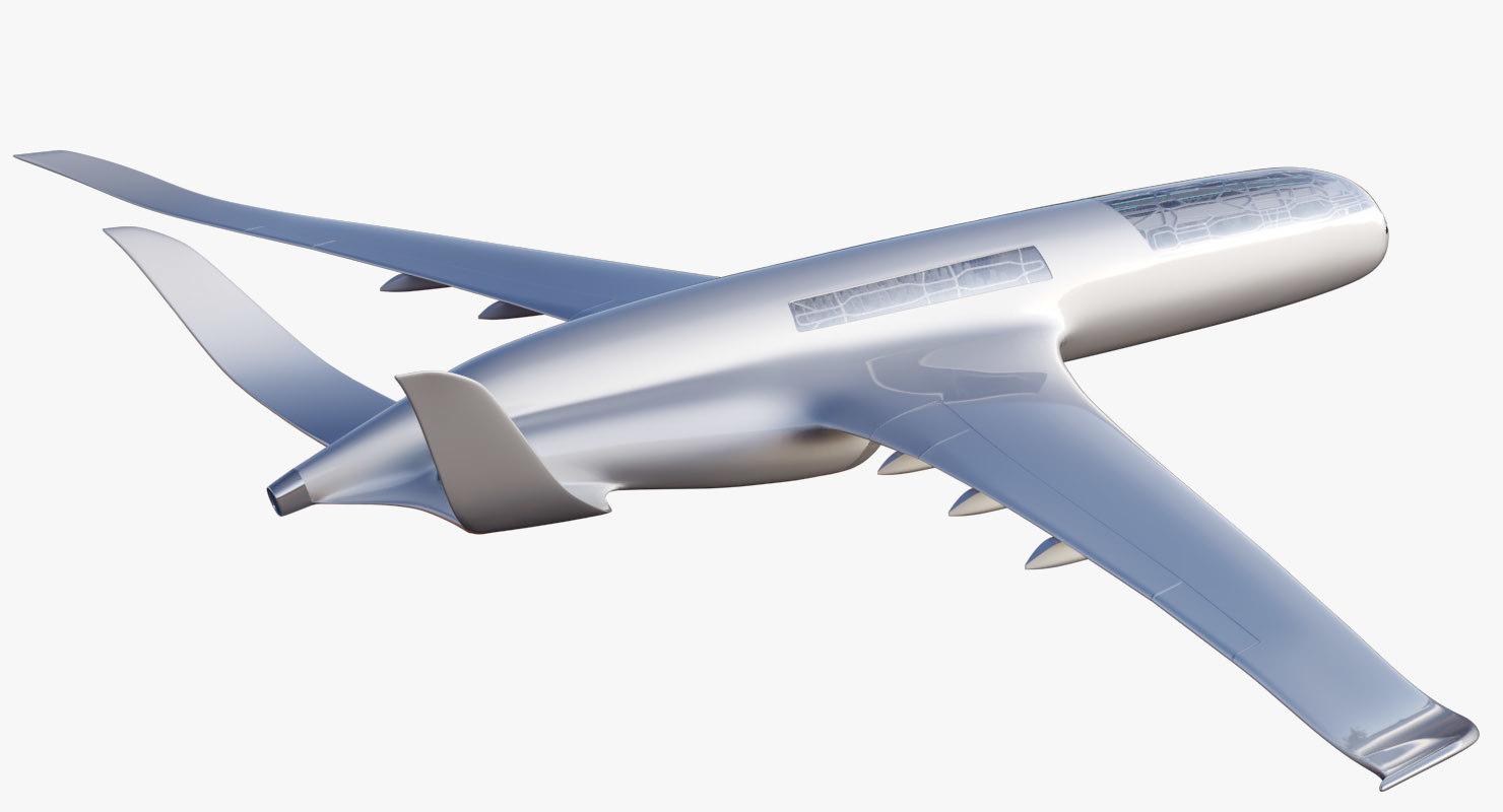 concept airbus 2050 plane interior 3D model