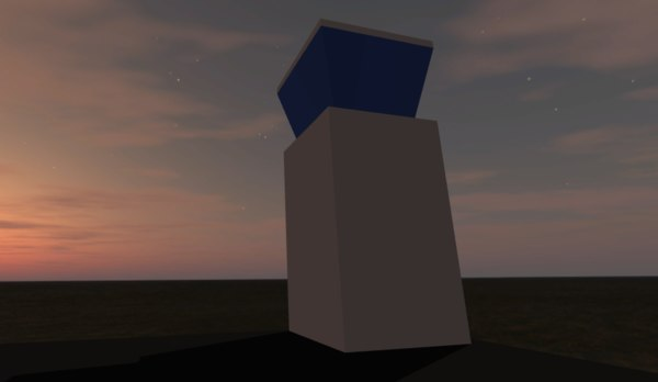 simple airport tower 3D