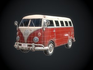 classic bus games 3D model