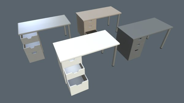 ready writing tables 3D model