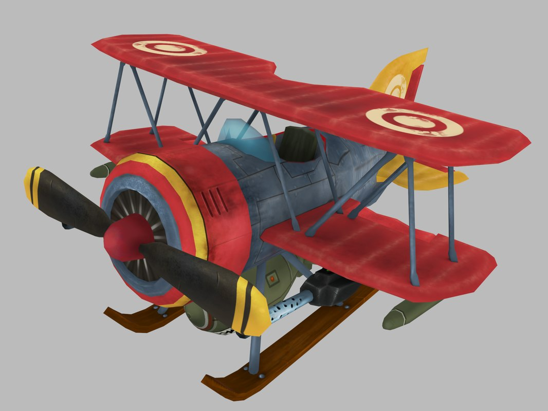 stylized biplane model
