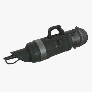 3D military flamethrower model