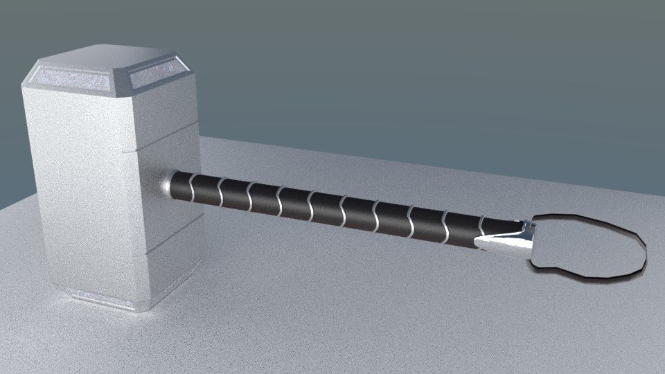 3D thor hammer