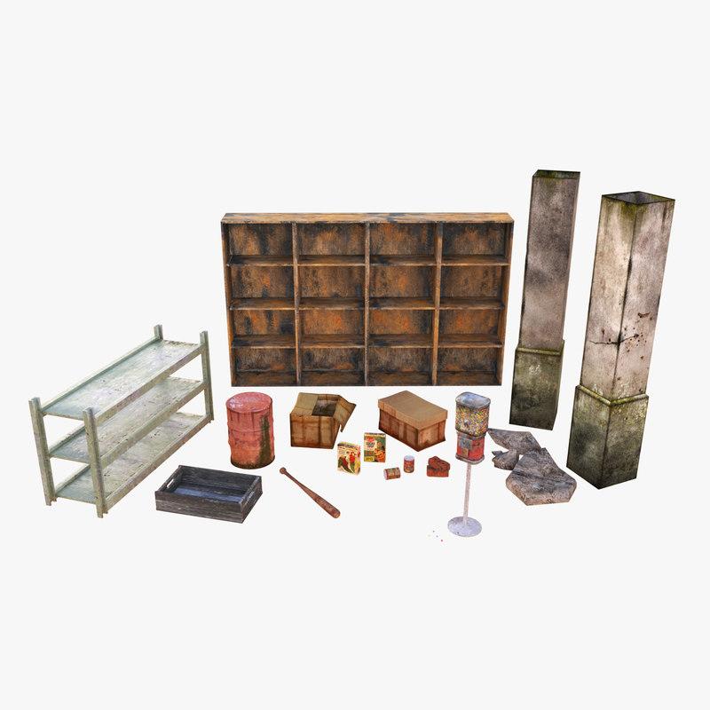 props abandoned pack 3D model