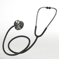 stethoscope ready 3D model