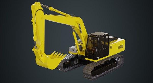excavator 1a 3D model