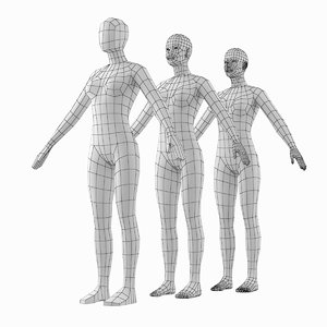 human female natural proportions 3D model