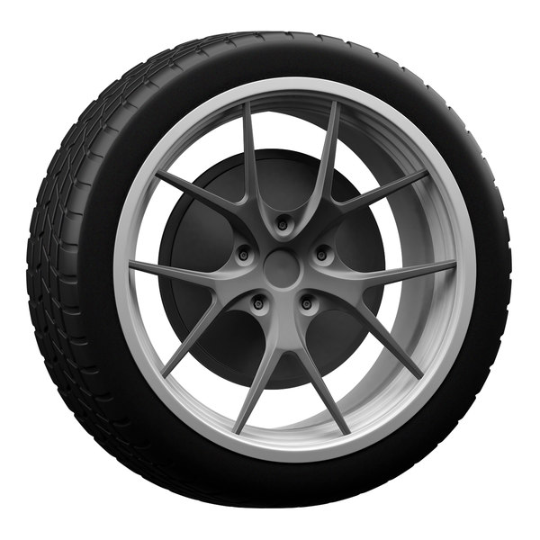 sports car wheels 3D model