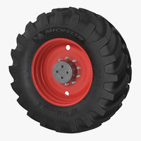 3D michelin tractor wheel model
