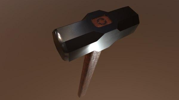 3D sledgehammer hammer tool
