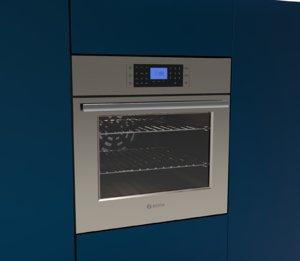 3D model oven bosch