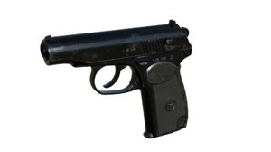 3D model makarov gun