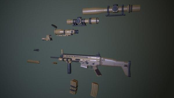 3D scar fn ready model