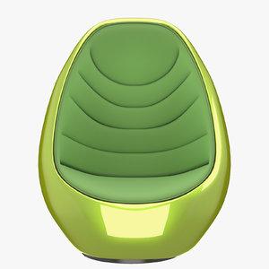 3D koop chair model