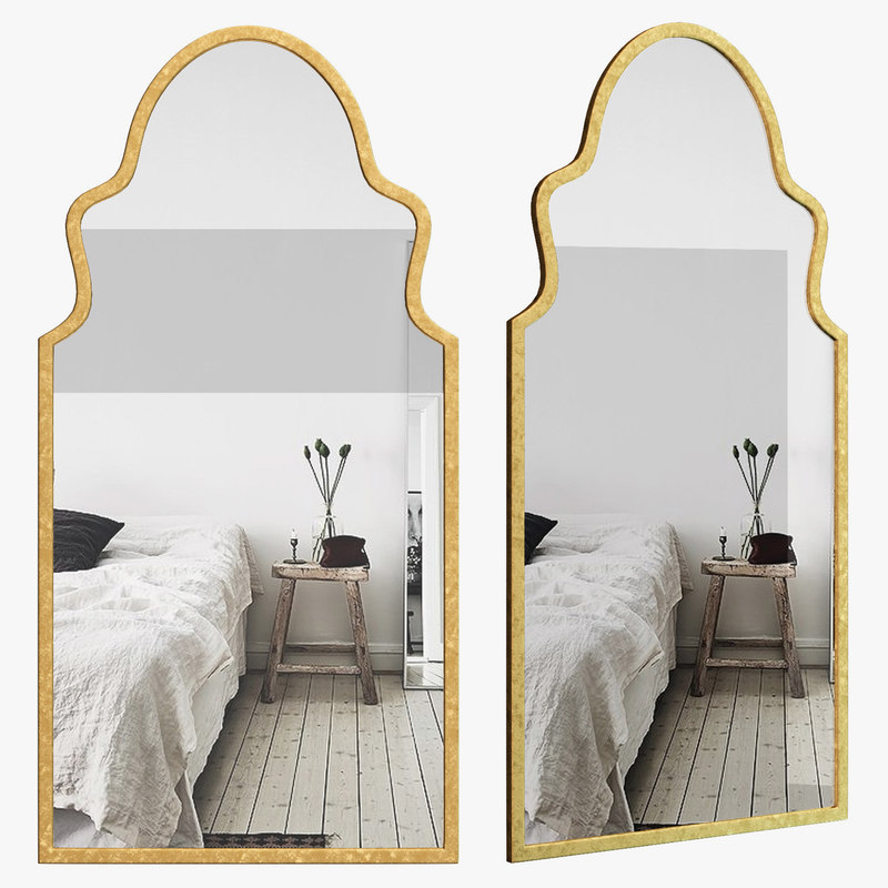 wlao3361 mirrors wall 3D model