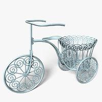 bicycle plant pot model