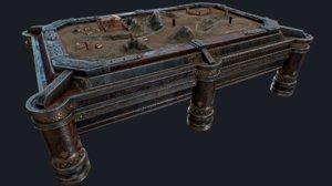 3D war table model