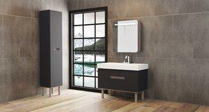 3D modern bathroom furniture interior
