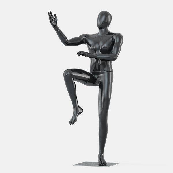 3D faceless mannequin martial arts