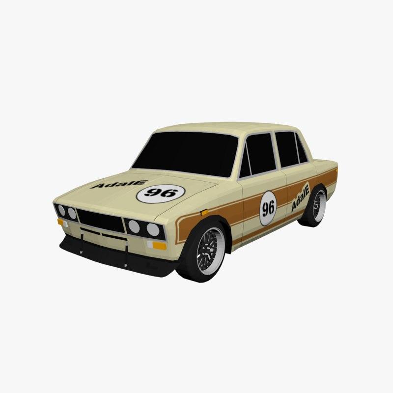 3D car vehicle sedan model