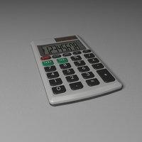 simple calculator 3D model