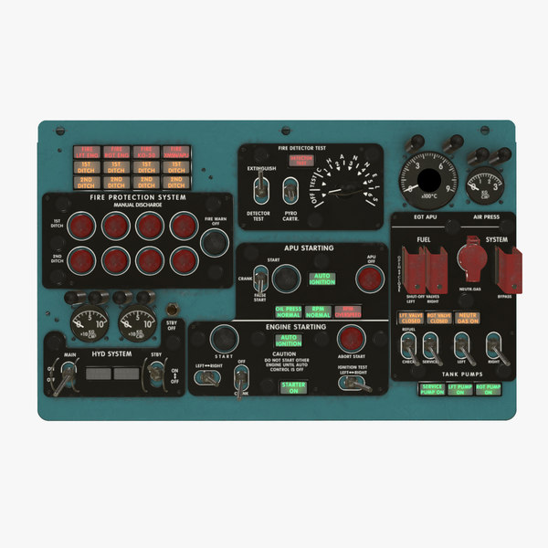 3D central overhead panels board