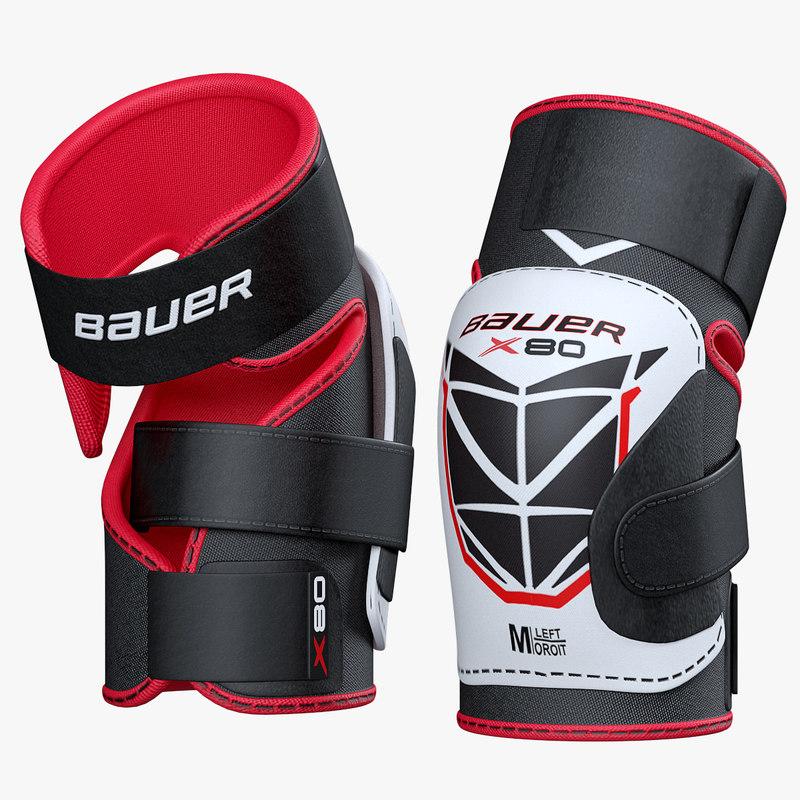 3D model elbow pads hockey vapor