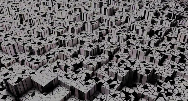 geometric cubes 3D model