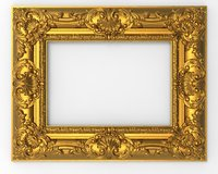 frame picture carving 3D model