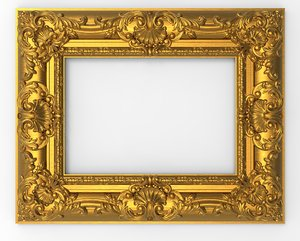 frame picture carving 3D model