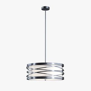 kichler krasi pendant chandelier 3D model