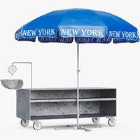 umbrella outdoor shop 3D model