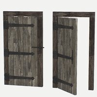 door old wooden 3D model