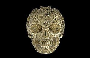 3D model skull ring