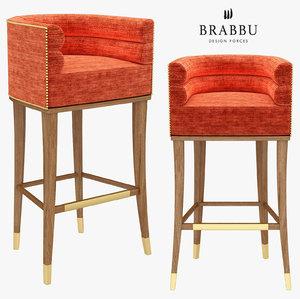 maa bar chair - 3D model