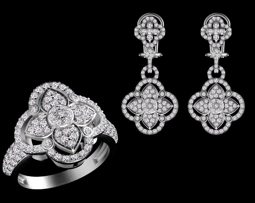 ring earring 3D model