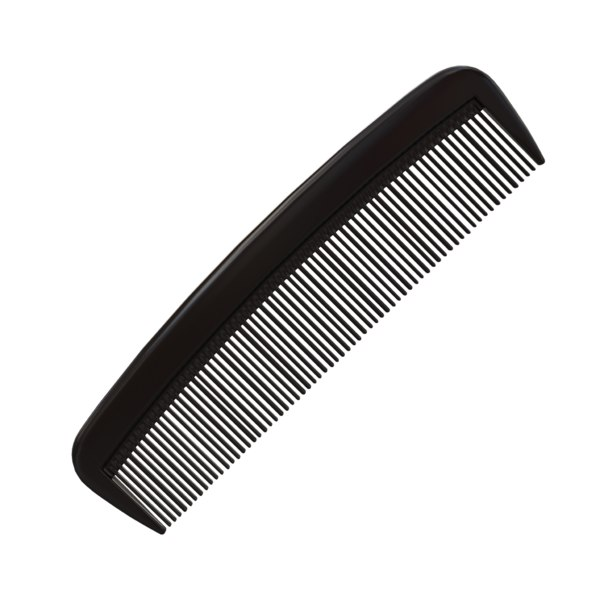 3D comb hairbrush model