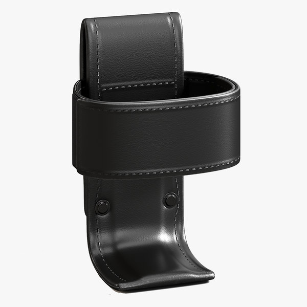 leather universal radio holder 3D model